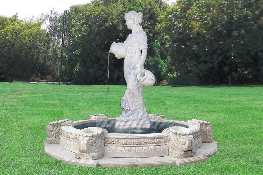 Buy Lady Vase Statue White Marble Water Fountain Sale You
