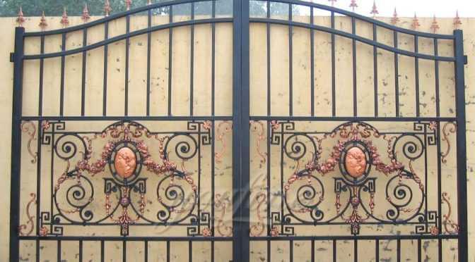 Cast Iron Main Sliding Gate For Home