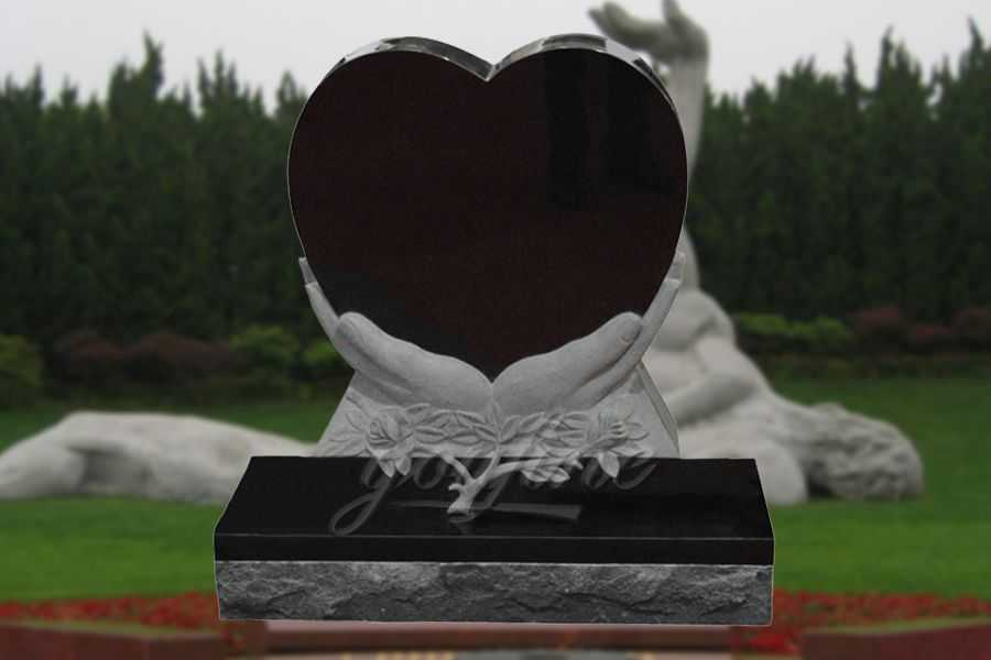 China black Granite heart headstone