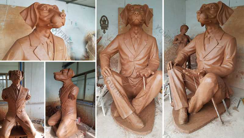 Clay-model-of-dog-man