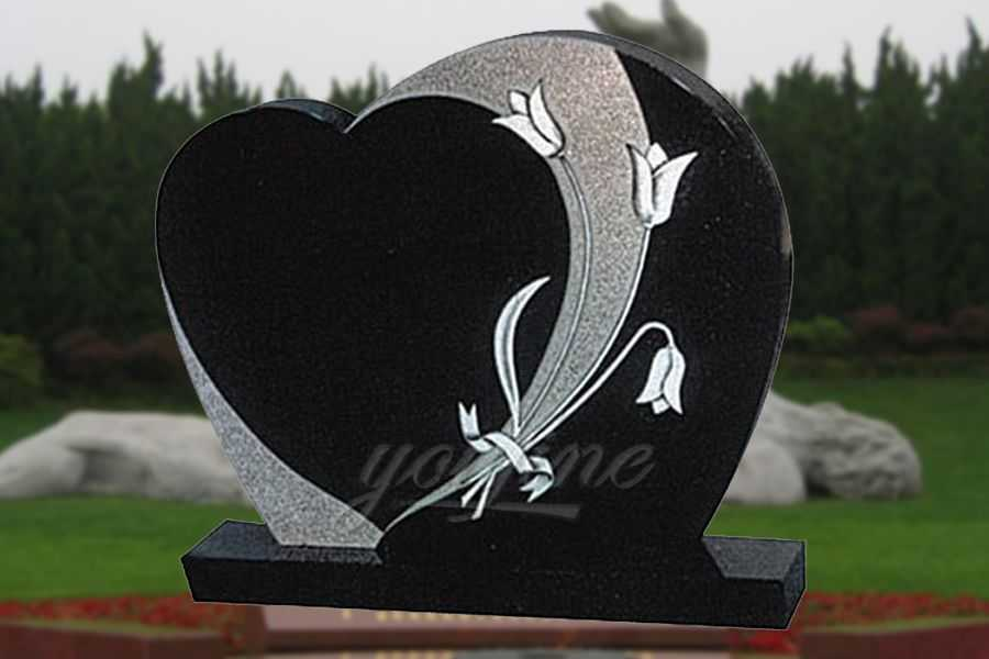 Customized Heart Shape Granite Headstone