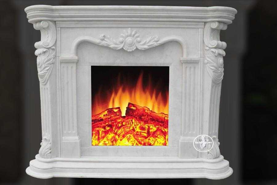 Customized indoor French marble fireplace surround with competitive price