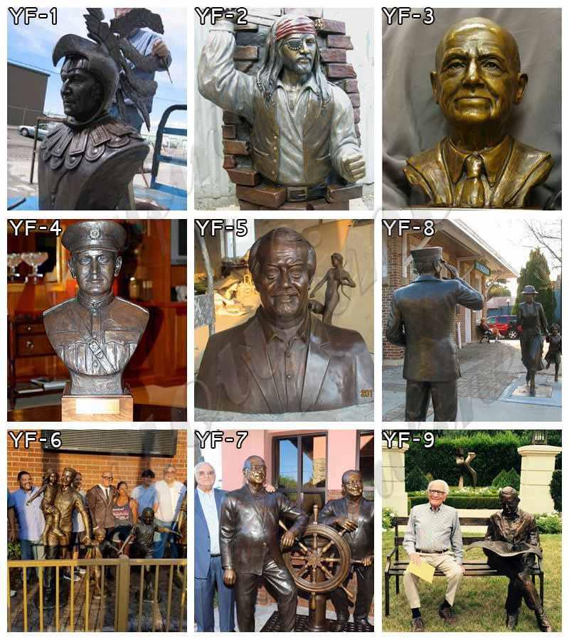 Decorative Life Size Outdoor Bronze Statues