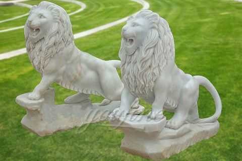 Decorative outdoor garden lion statues for sale