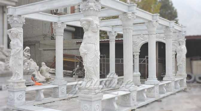 Decorative outdoor large marble gallery-3