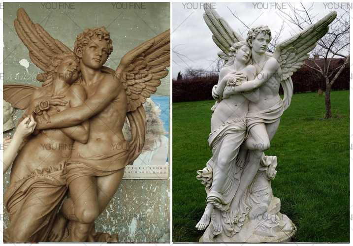 Famous Outdoor Angel Marble Statue of Apollo and Daphne For Garden Decor