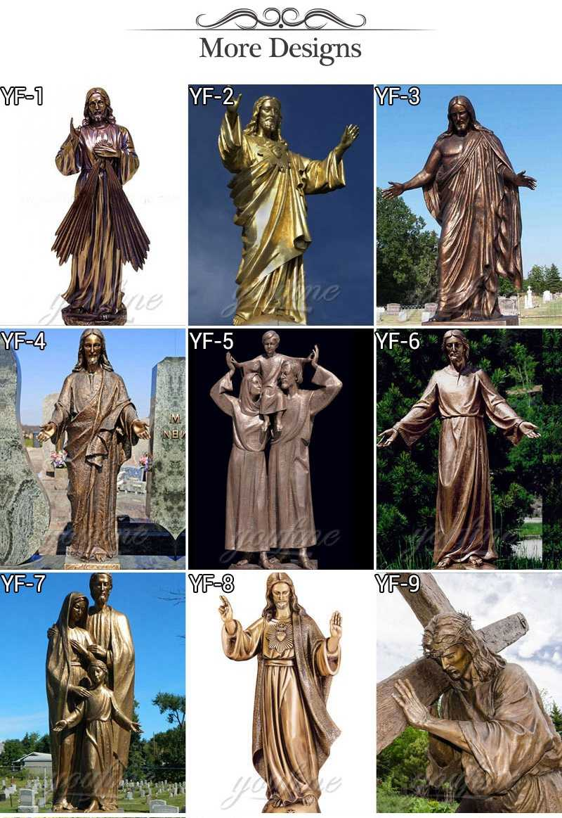 Famous Religious Church Detailed Casting Bronze Jesus Statue