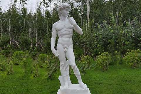 Famous White Marble David Statue