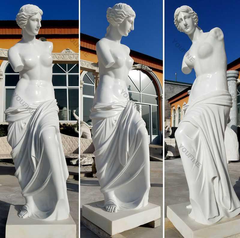 Famous modern marble art sculptures life size Venus de milo marble statues designs for decor