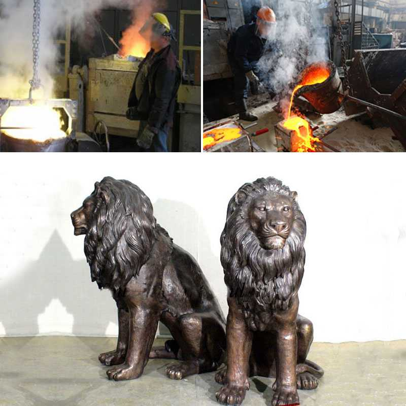 Garden-Decoration-Casting-Bronze-Lion-Statues-for-sale