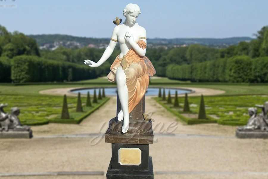Garden Decoration Western Lady Marble Statue