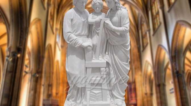 Garden Life Size Religious Holy Family Marble Statue