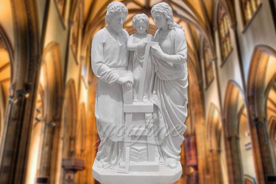 Garden Life Size Religious Holy Family Marble Statue