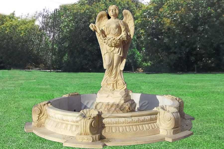 fountains for sale. Garden Sale Statue Marble Angel Water Fountain With Shells Fountains For