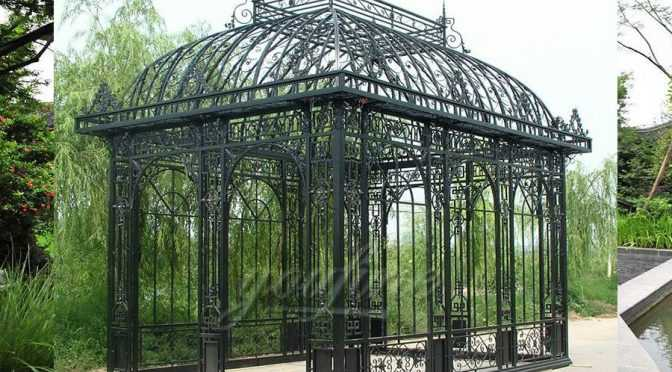Garden Wrought Iron Pavilion Metal Gazebo
