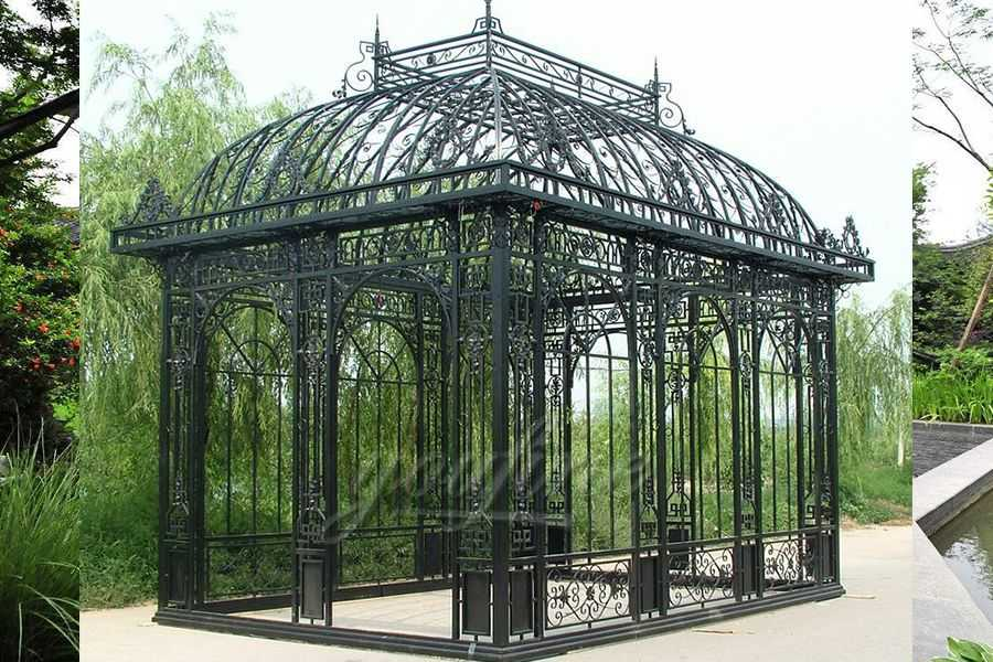 Garden Wrought Iron Pavilion Metal Gazebo IGWG-03