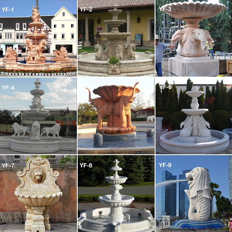 Gorgeous Stone Rolling Sphere Limestone Water Fountain