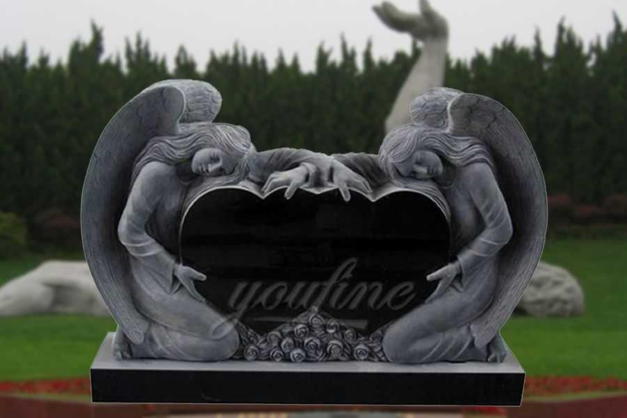 Granite Heart Headstone Angel Design For Sale You Fine