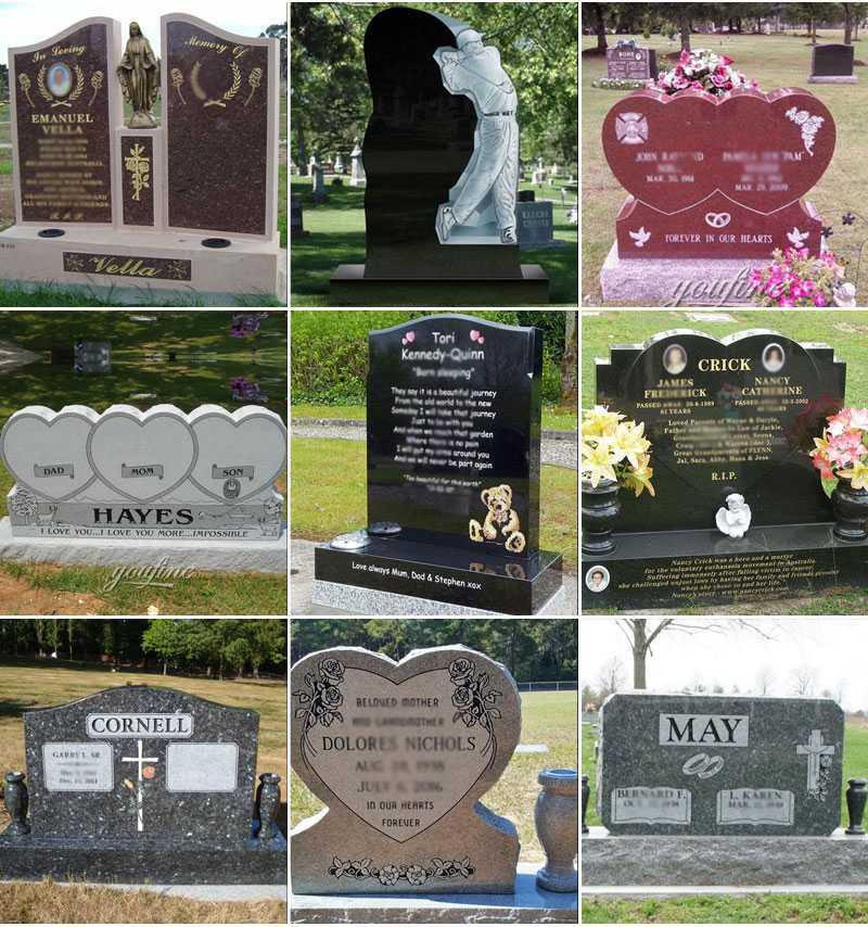 Granite stone headstone statues