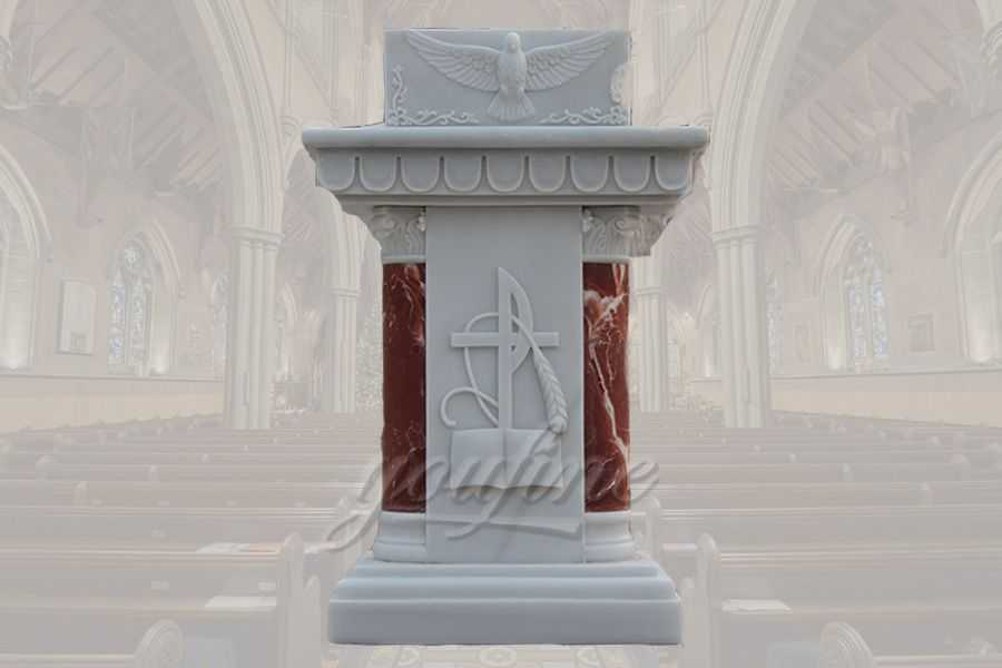 Hand Carved Beautiful Designs Marble Pulpits and Ambo for Sale