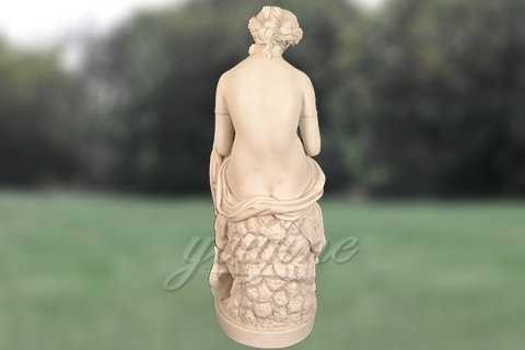 Hand carved nude lady marble sculpture