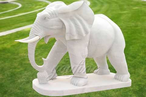 Hand Carved White Elephant Statues You Fine Sculpture
