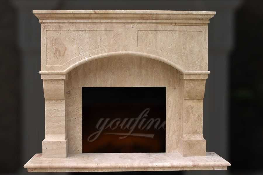 High quality victorian beige marble fireplace mantel for for Marble mantels for sale
