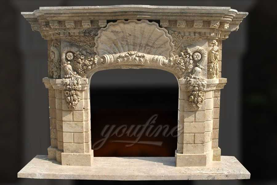 high quality antique beige marble fireplace mantel you fine sculpture. Black Bedroom Furniture Sets. Home Design Ideas