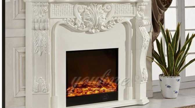 High quality decorative French natural marble fireplace surround