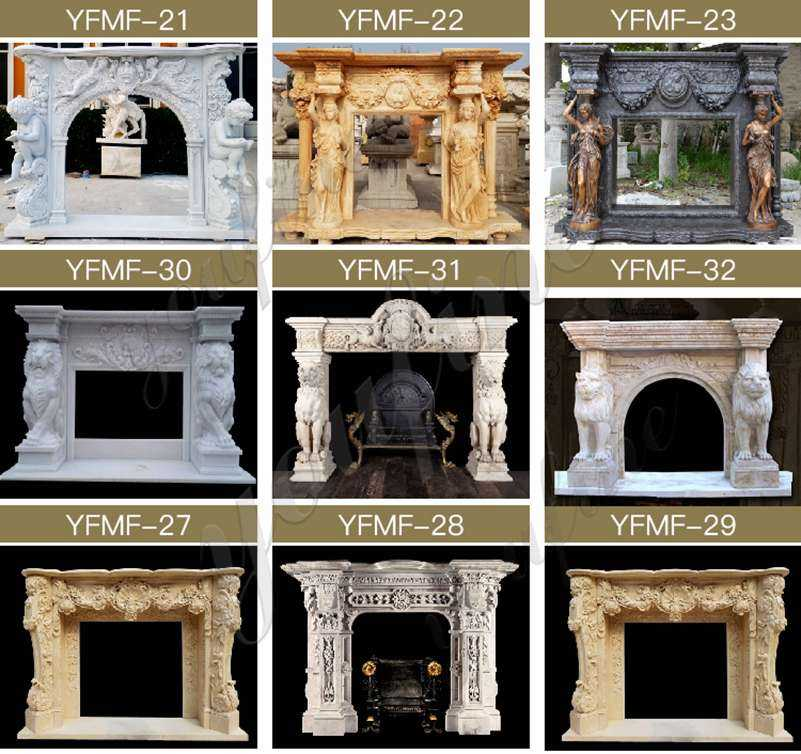 High quality marble fireplace mantel for sale