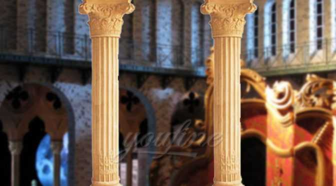 High quality roman marble columns for wedding decoration