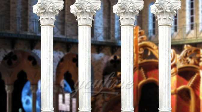 High quality roman white marble columns for wedding decoration