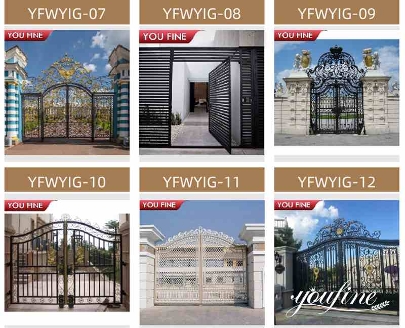 House Wrought Iron Gate Design for Sale