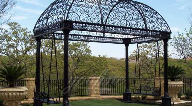 Garden Wrought Iron Gazebo For Sale