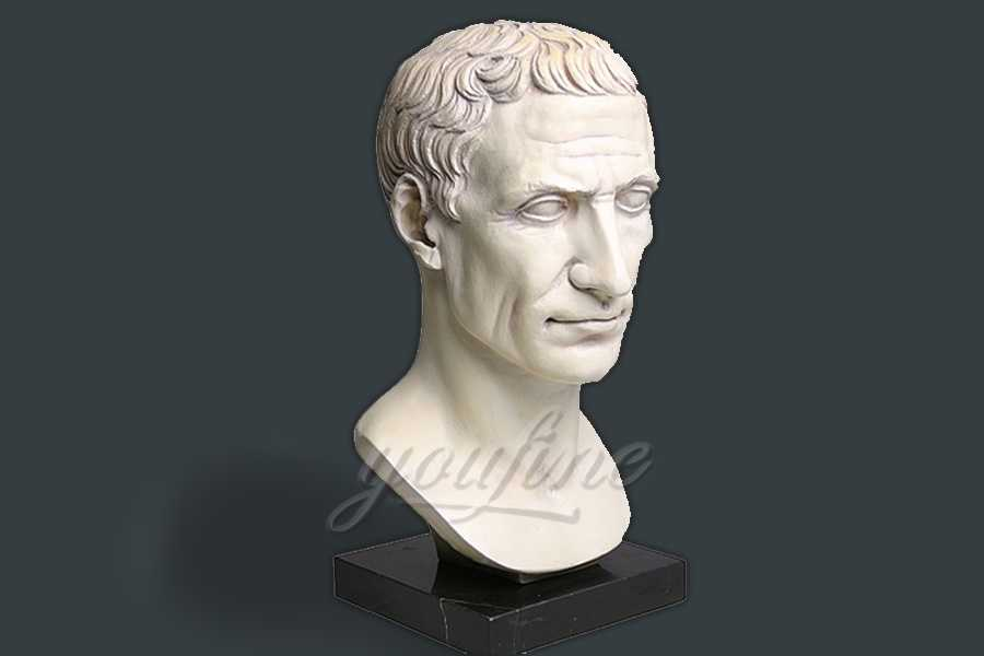 Indoor decoration marble Julius Caesar bust statue