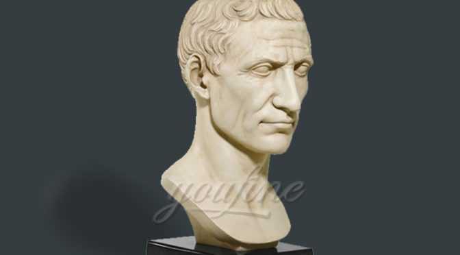 Indoor decoration marble Julius Caesar bust statue
