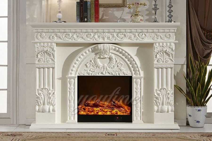 The good using of the marble fireplace