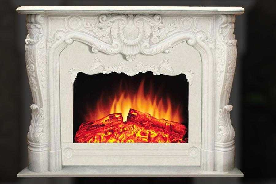 Interior Decoration French hand carved marble fireplace mantel MFFS-07