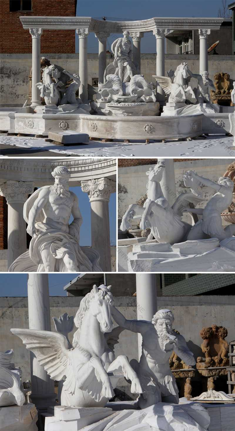 Large Famous Marble Trevi Fountain for parkLarge Famous Marble Trevi Fountain for park