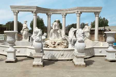 Manufacturer Supply Large Famous Marble Trevi Fountain on discount sale–MOKK-01