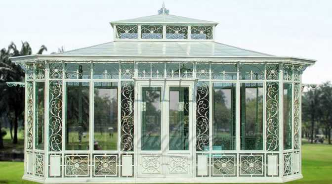 Large Outdoor Garden Wrought Iron Gazebo