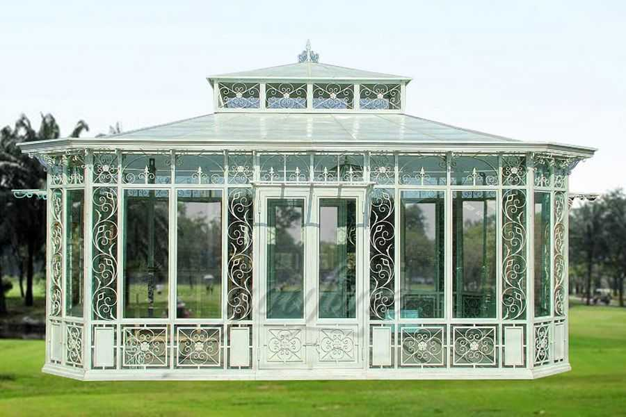 Large Outdoor Garden Wrought Iron Gazebo IGWG-01