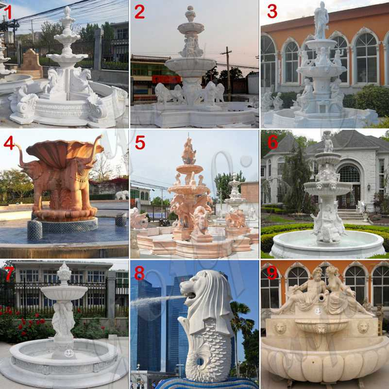 Large Outdoor Marble Lion Fountain for Sale