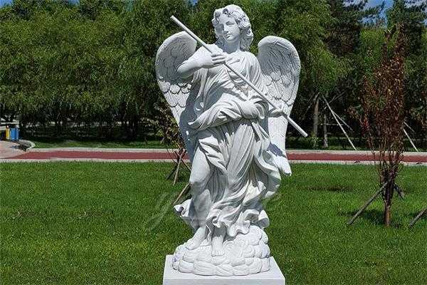 Large outdoor marble Sant'Angelo sculpture for decor
