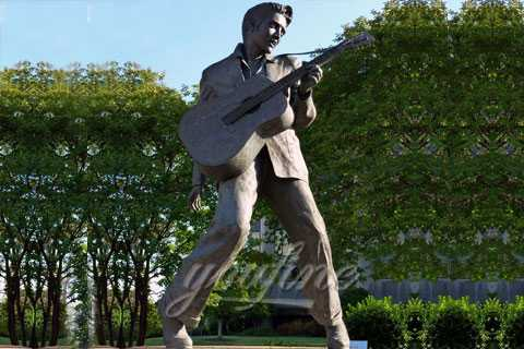 Outdoor famous life size Elvis bronze sculpture