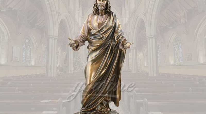Life Size Famous Religious Church Detailed Casting Bronze Jesus Statue for Sale