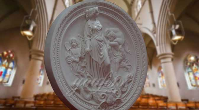 Marble Stone Myth Relief Art Carving with Lay and Children
