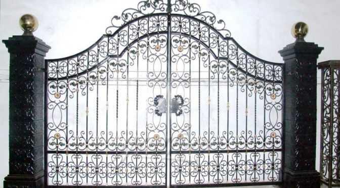 Modern House Wrought Iron Gate Design