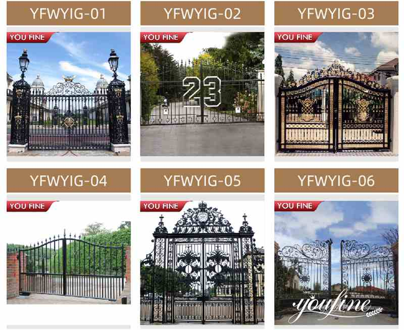 Modern House Wrought Iron Gate Design for Sale