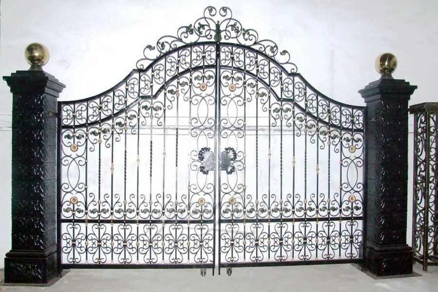 Modern House Wrought Iron Gate Design- You Fine Sculpture